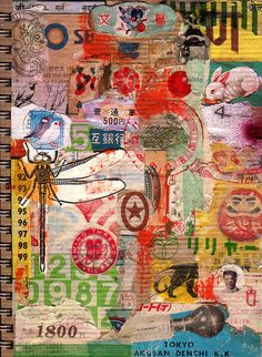 Colin Johnson - hyper-collage illustration of cover of art journal Art Journal Pages, Art Journals, Collages, Mixed Media Collage, Collage Art, Travel Collage, Heart Collage, Art Adulte, Photocollage