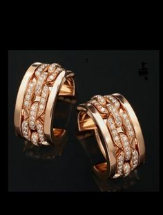 Ralph Lauren 18K rose gold singlechain bangle with diamonds Fine