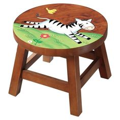 Wooden Stools | Teamson Design Wooden Stool - Zebra (W10615A) - Product Reviews and ...