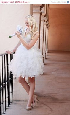 ON SALE Aviana Short Wedding Dress by TheLittleWhiteDress on Etsy, $396.00