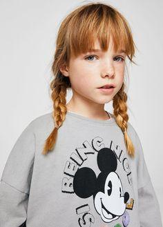 Bluza mickey mouse - Dziewczynka | MANGO Kids Polska