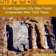 Lost Egyptian City found Underwater - WTF fun facts