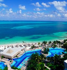 My hotel in Cancun. The view from a room at the Hotel Riu Caribe in Cancun, Mexico. Mexico Vacation, Cancun Mexico, Vacation Places, Vacation Destinations, Vacation Trips, Dream Vacations, Vacation Spots, Places To Travel, Caribbean Vacations
