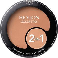 Revlon Colorstay 2-in-1 Compact Makeup and Concealer, .42 oz, Beige