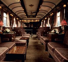 Take a ride on the Orient Express.  This is the iconic height of luxury!  You would feel that you were back in the 20's and expect to see Agatha Christie at every turn.