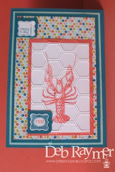 By The Tide stamp set. New seasonal catalogue from Stampin' Up! Great set for mens cards I think.
