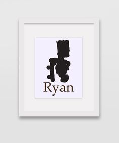 Personalized Bart Simpson Print 8x10 by CleopatrasPearls on Etsy