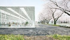 japanese junya ishigami architects designed 'KAIT' a studio/workplace constructed on the kanagawa institute of technology campus in the suburbs of tokyo.