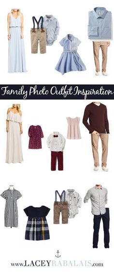 Outfit Inspiration for Your Family Photos // What to Wear for Family Photo Sessions // Lacey Rabalais Spring Family Pictures, Family Pictures What To Wear, Winter Family Photos, Family Pics, Summer Photos, Family Posing, Beach Pictures, Christmas Pictures, Family Portraits