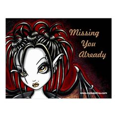 Patchouli Gothic Faery Fantasy Postcard - tap, personalize, buy right now!