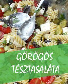 Görögös tésztasaláta 20 perc alatt kész, finom vegetáriánus recept. Elkészítése gyerekjáték, aki eddig megkóstolta, mindenki szerette.  #vegetáriánus ,