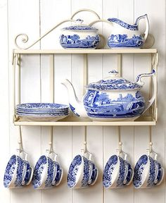 Spode Serveware, Blue Italian Collection - Serveware - Dining & Entertaining - Macy's