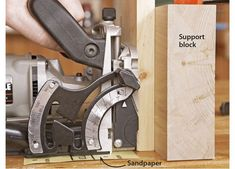 12 ways to get the best from your biscuit joiner | Page 12 | WOOD Magazine Woodworking Techniques, Woodworking Tips, Biscuit Joiner, Trump Cartoons, Wood Magazine, Diy Shops, Wood Plans, Garage Storage, Joinery