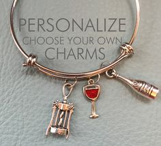 A personal favorite from my Etsy shop https://www.etsy.com/listing/228024583/wine-beer-margarita-customize-alex-ani