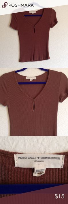 Urban Outfitters Top S Project Social T, size S. Purchased May 2016 from Urban Outfitters. Worn one time. Excellent condition. Brown. Urban Outfitters Tops Crop Tops