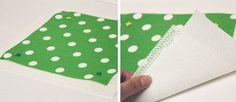 fabric mouse pad - fabric, non-slip shelf liner, n paper towel so liner doesn't stick to machine.  Sew.  Two coats Modpodge or 2 portions glue n 1 water.