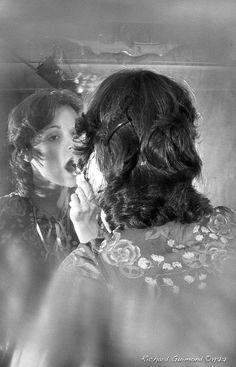 Renée Bordeleau, Chambly, Photo by Richard Guimond ©1977 19771019  Nikon F2a 105mm f2.5 2x Honeywell Strobonar 202, Tri-X D-76 105mm, Tri, Domestic Goddess, Archaeology, Book Worms, Nikon, Religion, Things To Think About, History