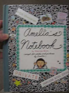 "Decorate own journals...modelled after ""Amelia's Notebook"""