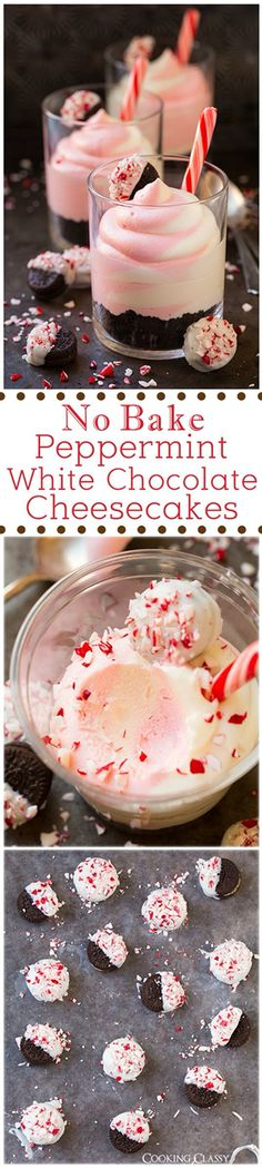 Peppermint white chocolate cheesecake