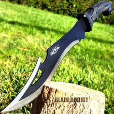 "16"" TACTICAL HUNTING SURVIVAL RAMBO FIXED BLADE MACHETE KNIFE Camping Axe Sword"