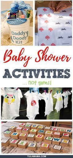 Baby shower activities are fun, but figuring out which activities to do, may be harder. Click the link to see all kinds of fun activities to do at your baby shower. #babyshoweractivities #babyshower