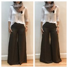 Brown wide leg pants Chic brown wide leg pants with side pockets and zipper closure PLEASE comment on the size you want and allow me to make you a personalized listing BUNDLE AND SAVE 10% Pants Wide Leg
