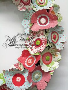 Blossom punch wreath 3