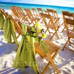 Green Ceremony Decor