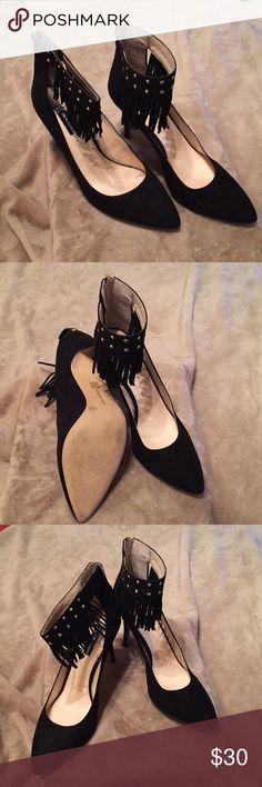 INC Suede heels Gentle used black suede pumps INC International Concepts Shoes Heels