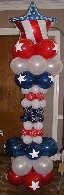 4th of July Independance Day Balloon Bouquets and Balloon Decor .  This site has a good selection but they are a bit pricey, not to mention they're in OK.
