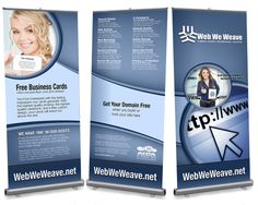 Retractable Banner Stands designed and printed by Web We Weave for trade shows.