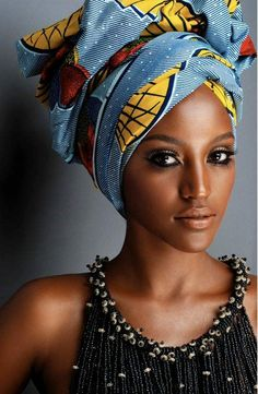 Head Wraps are worn by both African and African American women. Head wraps will forever be in fashion and look sexy on any woman.