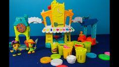 Jugar Play Doh-Town. Desembalaje conjunto de juego enorme Play Doh Ciuda...
