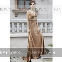 Sexy Backless Long Brown Prom Dresses | Fanny Crown