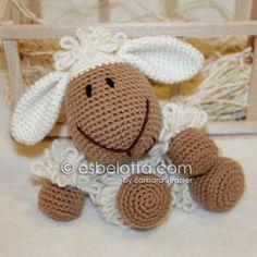 Wooly, the Sheep - Amigurumi crochet pattern ✿⊱╮Teresa Restegui http://www.pinterest.com/teretegui/✿⊱╮