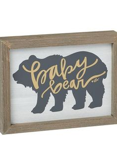 Baby bear box wood sign for your little bear. Perfect for woodland themed nursery and shower gifts. Laney Lu's Boutique www.laneylus.com