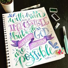 This verse is so incredibly rich. What seems impossible in your life right now? Our Father who loves us is in the business of impossibilities. He doesn't promise to work every situation to conform what we ask of Him, but He DOES work every situation for our good and for His glory! Miracles free of charge. ❤ Father, thank you for the crazy love you have for your children! ❤❤❤ . . . #illustratedfaith #bibleverse #bibleart #handlettering #lampandlight #ilovejesus #christiancreative #30days...