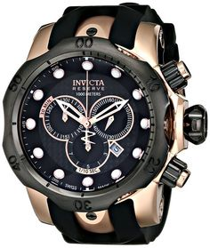 Invicta Men's 0361 Reserve Collection Venom Chronograph 18k Rose Gold-Plated Stainless Steel Watch - Year-End Deals And New Year Deals