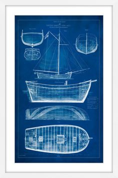 Clipper ships half hulls blueprint plans set of 2 full size ship blueprint ii malvernweather Image collections