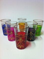 6x Teegläser Arab (verschiedene farben)