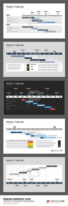 set of templates offers a selection of individually designed Gantt Charts. Layout Design, Web Design, Chart Design, Web Layout, Presentation Layout, Business Presentation, Presentation Skills, Template Power Point, Timeline Design