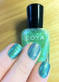 Zoya Fleck Effect Opal, Chloe and Maisie (Left to right) layered over the infamous Zoya Zuza!    Gorgeous!