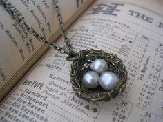 Finch Nest Necklace by mootsie on Etsy, $20.00