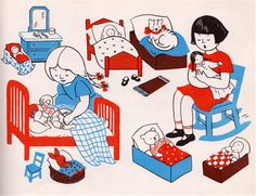 Let's Play House- written & illustrated by Lois Lenski (1944).