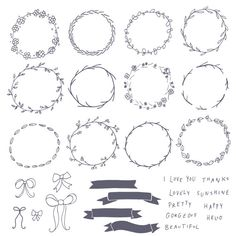Chalkboard Wreaths Bows and Banners Clip Art // por thePENandBRUSH