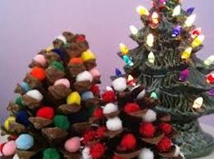 best christmas pine cone craft - Google Search