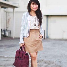 Jcrew tan brown elastic waist skirt New Jcrew tan elastic waist skirt. No rips, stains, etc. J. Crew Skirts Pencil