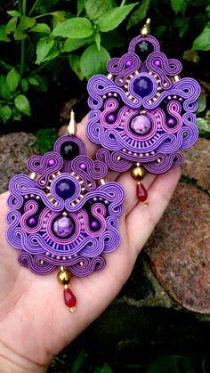 Niepowtarzalna nietuzinkowa biżuteria sutasz-moje życie moja miłość: kolczyki…