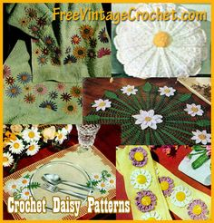 Crochet Daisy Patterns. Add a daisy crochet pattern from this list of easy and fun to make patterns to any of your projects.