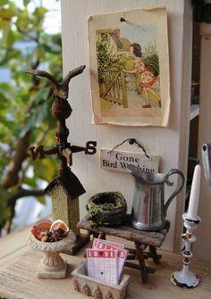 dollhouse miniature by Yuri Munakata  Just delightful!!!